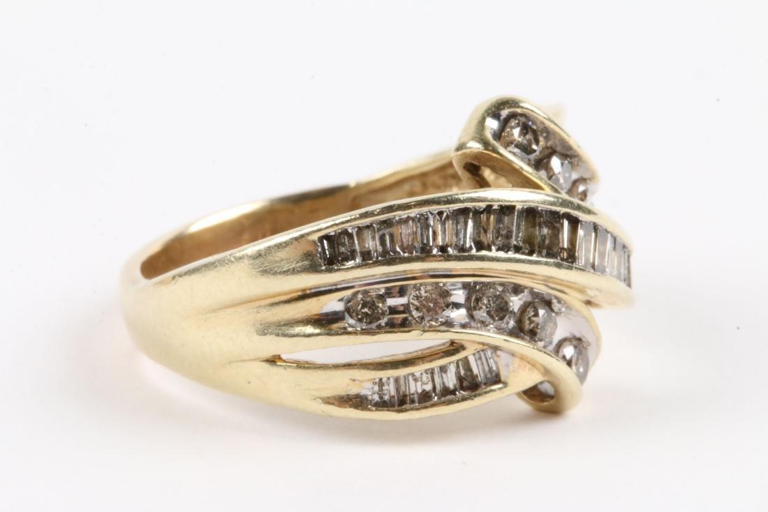 A Pair, 10K Gold & Diamond Rings - 5