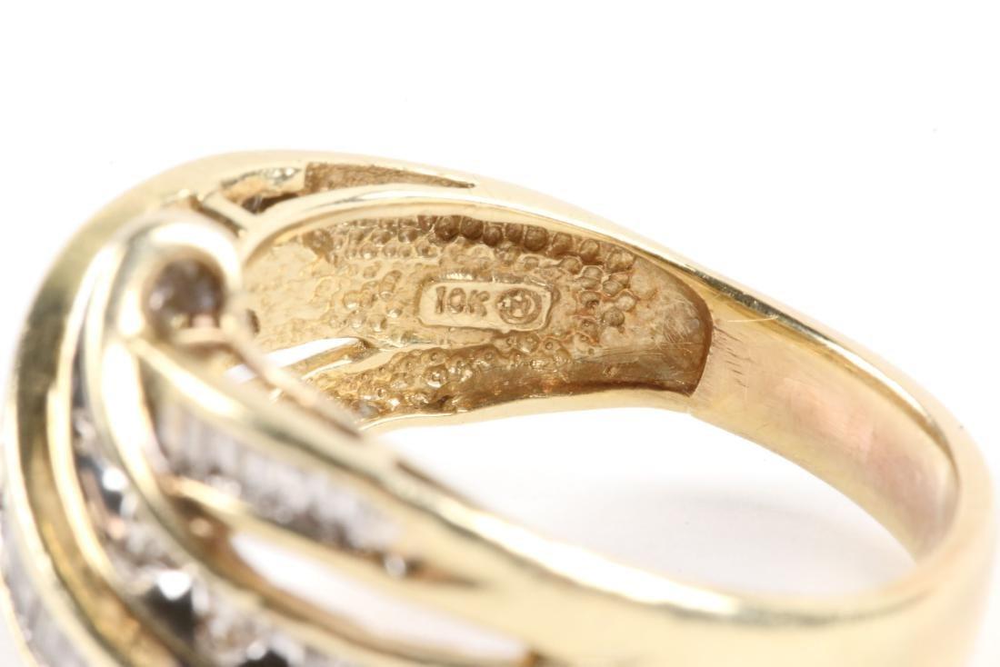 A Pair, 10K Gold & Diamond Rings - 7