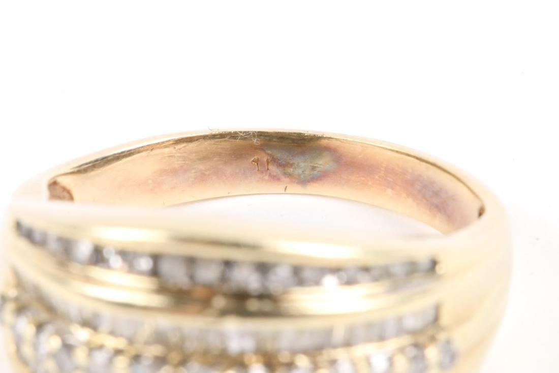 A Pair, 10K Gold & Diamond Rings - 8