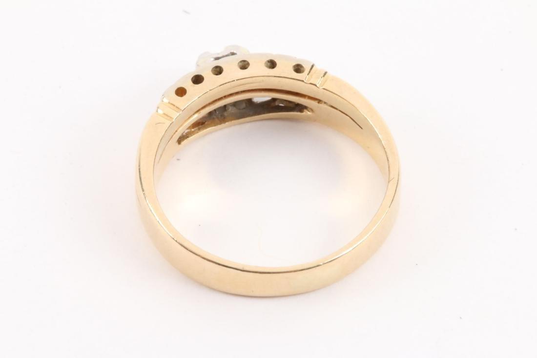 A Pair, 14K Gold & Diamond Rings - 10