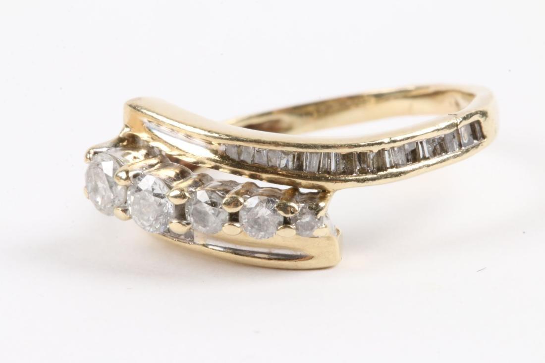 A Pair, 14K Gold & Diamond Rings - 2