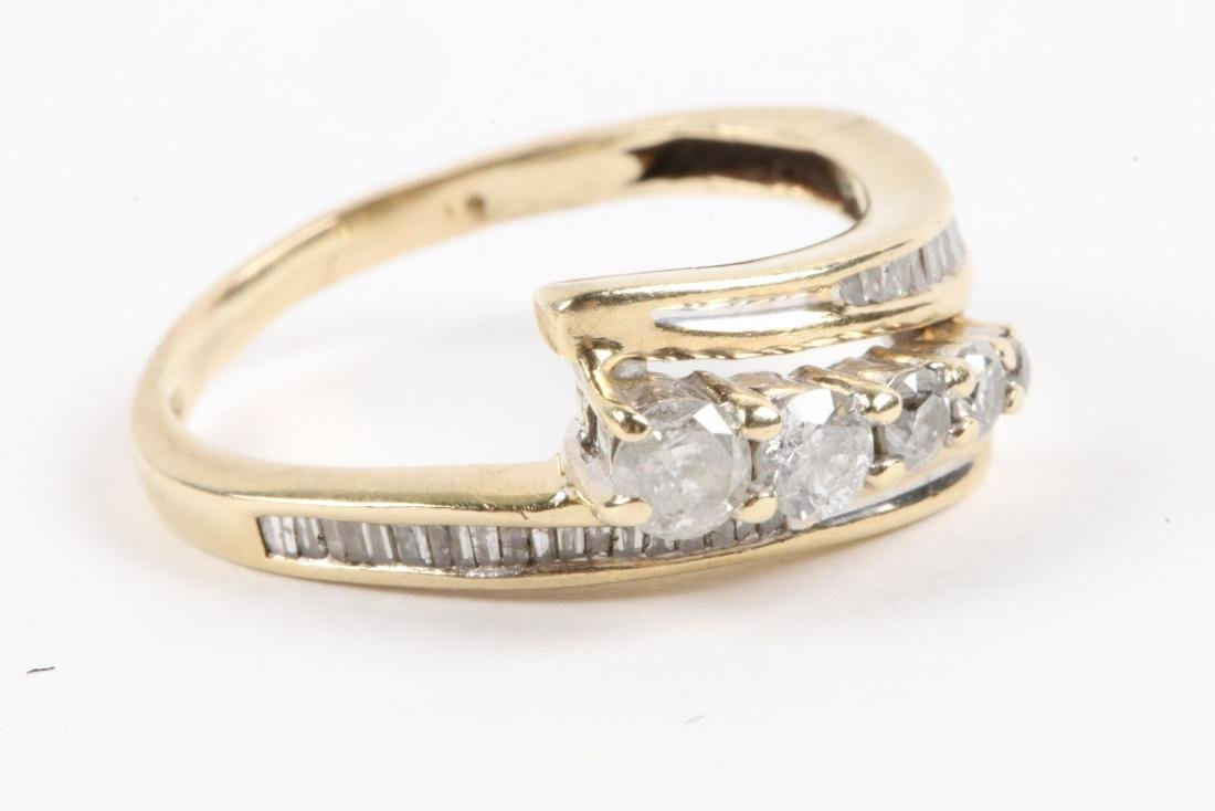 A Pair, 14K Gold & Diamond Rings - 3