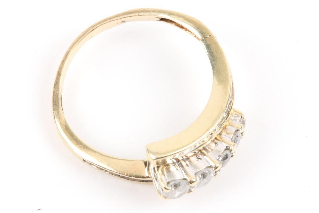 A Pair, 14K Gold & Diamond Rings - 4