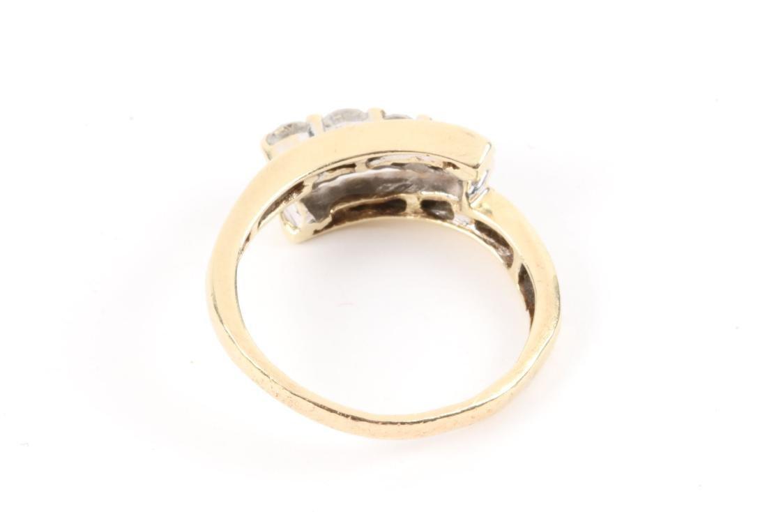 A Pair, 14K Gold & Diamond Rings - 5