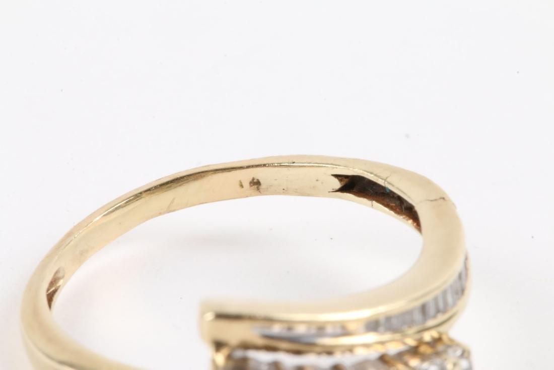 A Pair, 14K Gold & Diamond Rings - 6