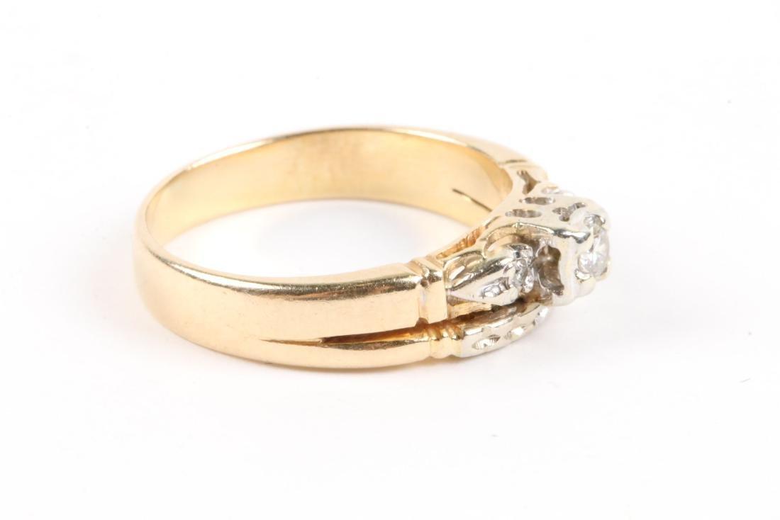 A Pair, 14K Gold & Diamond Rings - 8