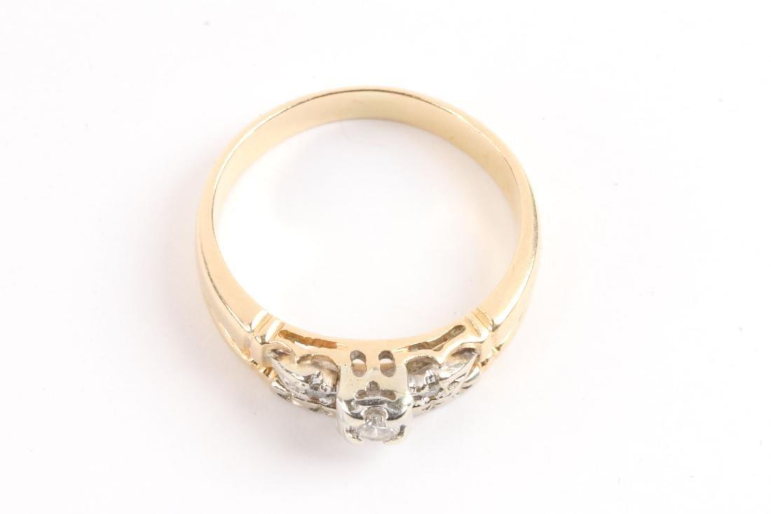 A Pair, 14K Gold & Diamond Rings - 9