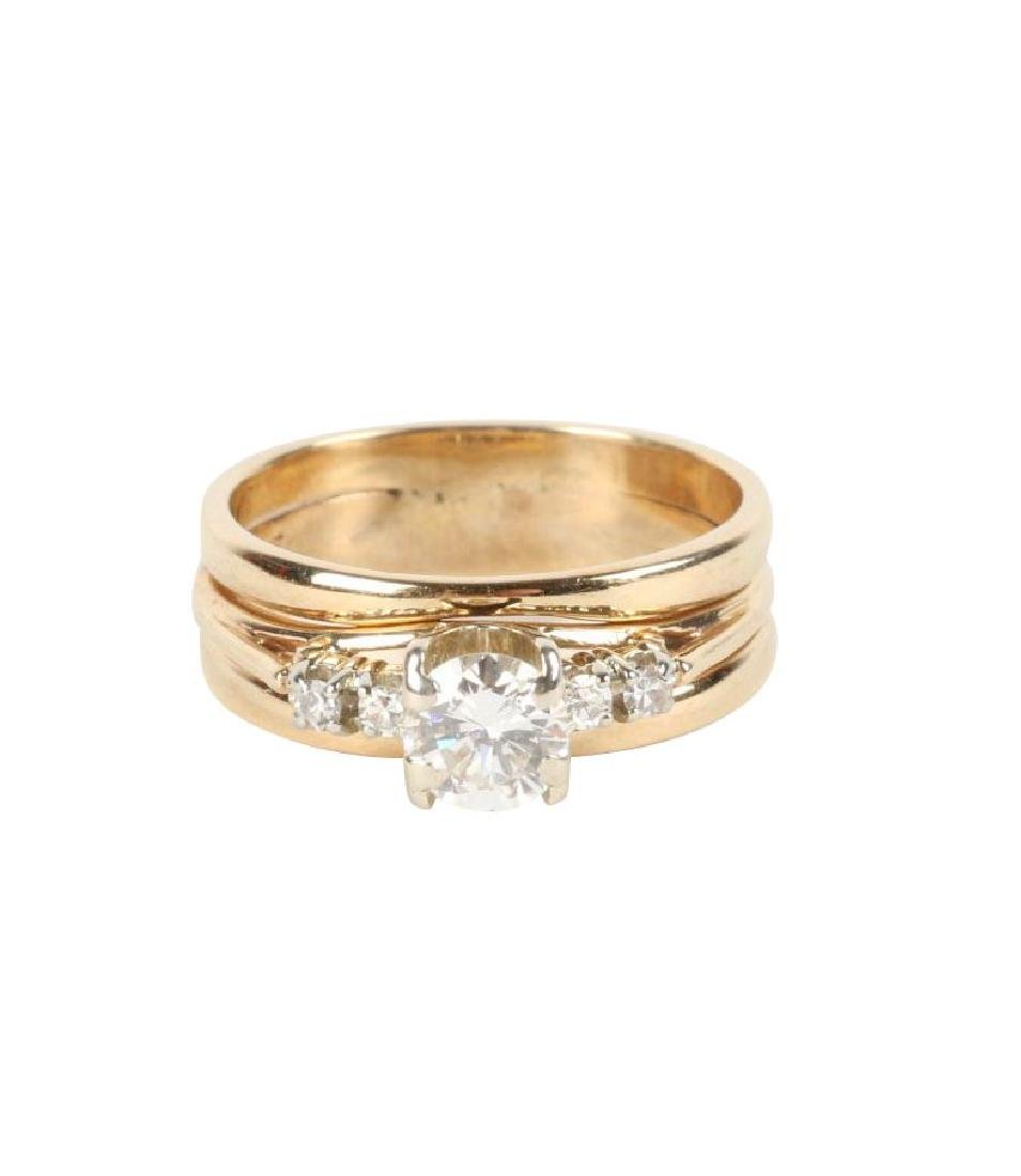 A 14K-18K & Diamond Engagement Ring
