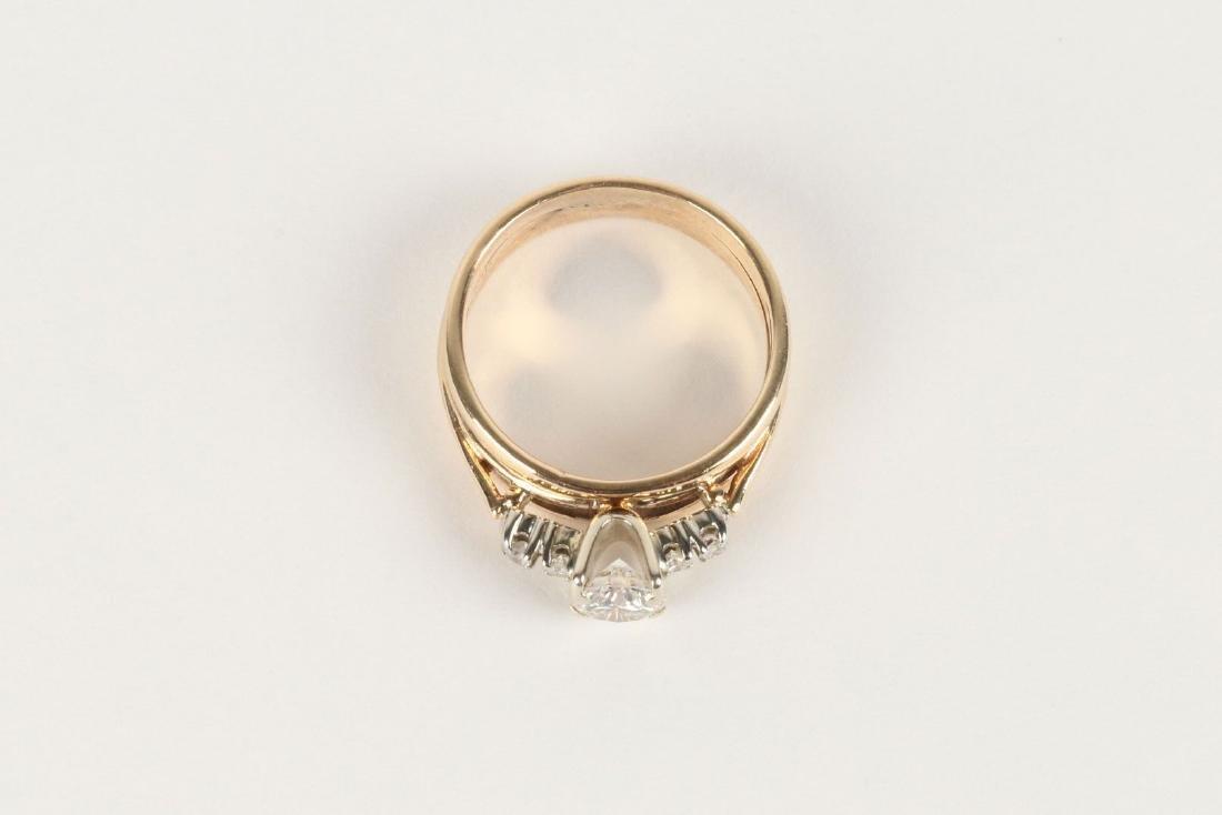 A 14K-18K & Diamond Engagement Ring - 2