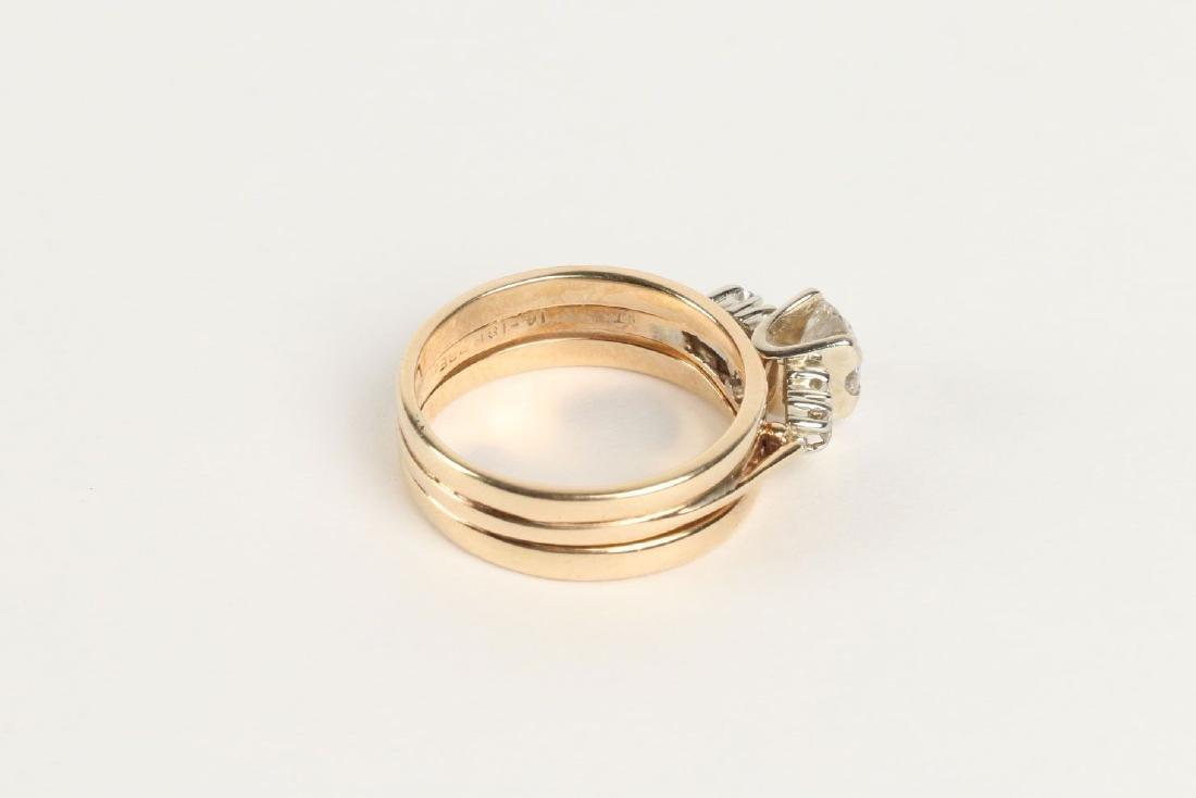 A 14K-18K & Diamond Engagement Ring - 3