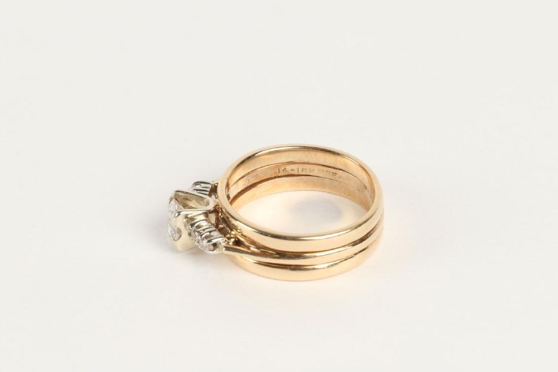 A 14K-18K & Diamond Engagement Ring - 4