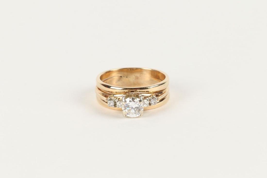 A 14K-18K & Diamond Engagement Ring - 6