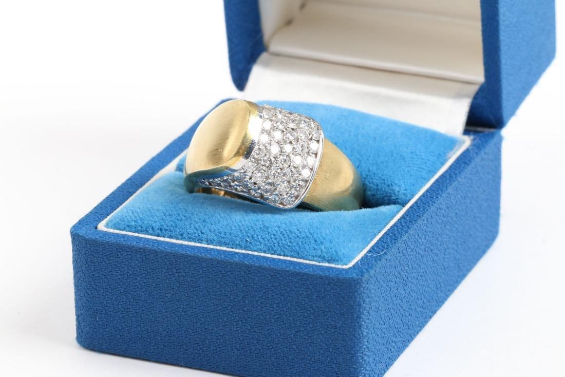 An 18K Gold & Diamond Ring - 2
