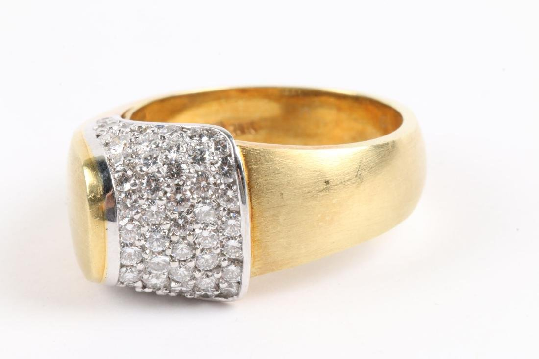 An 18K Gold & Diamond Ring - 3