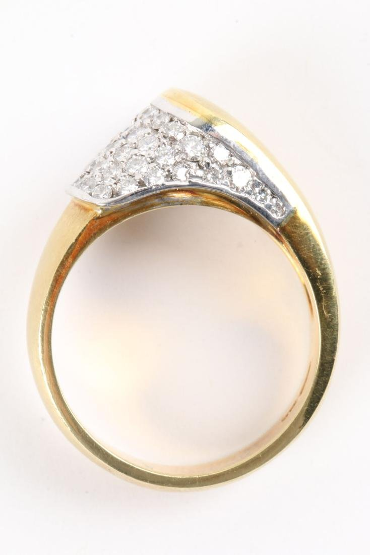 An 18K Gold & Diamond Ring - 5