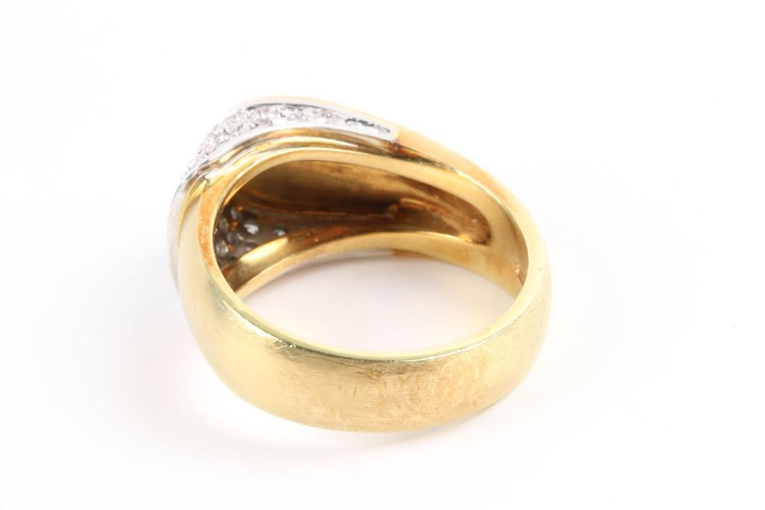 An 18K Gold & Diamond Ring - 6