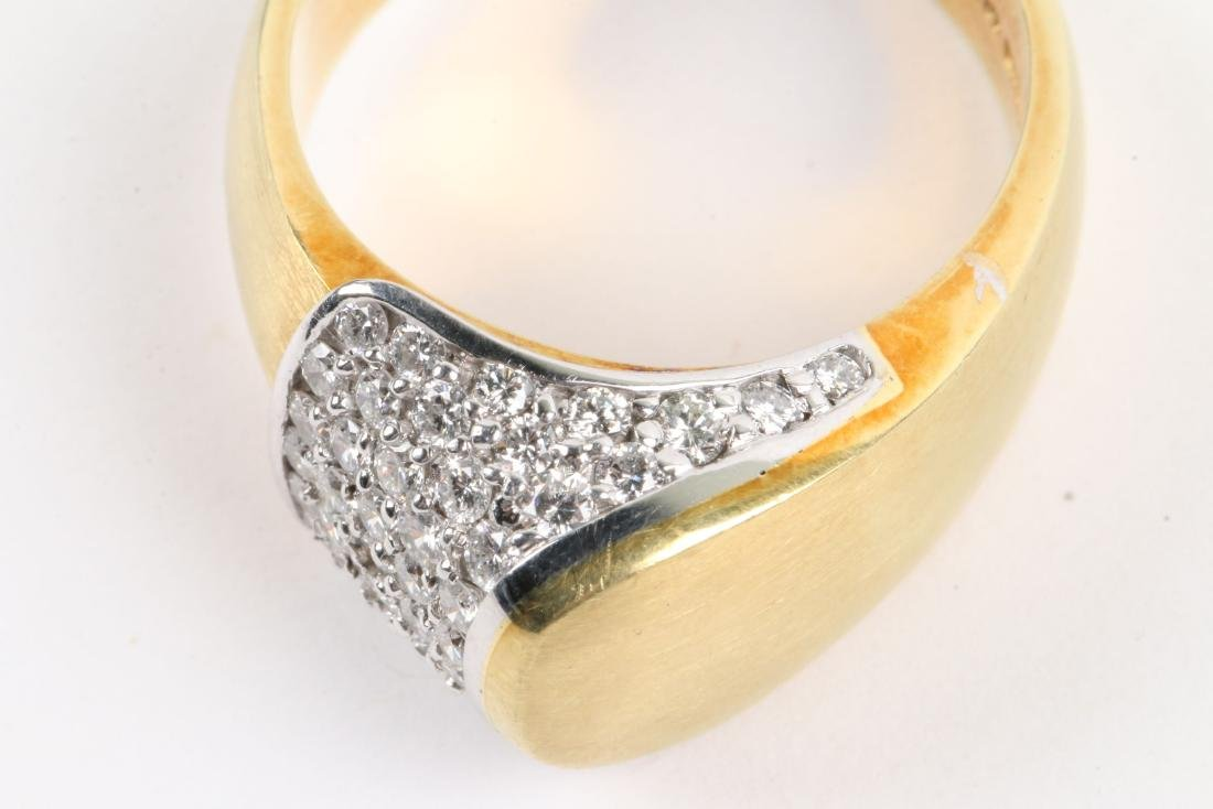 An 18K Gold & Diamond Ring - 7