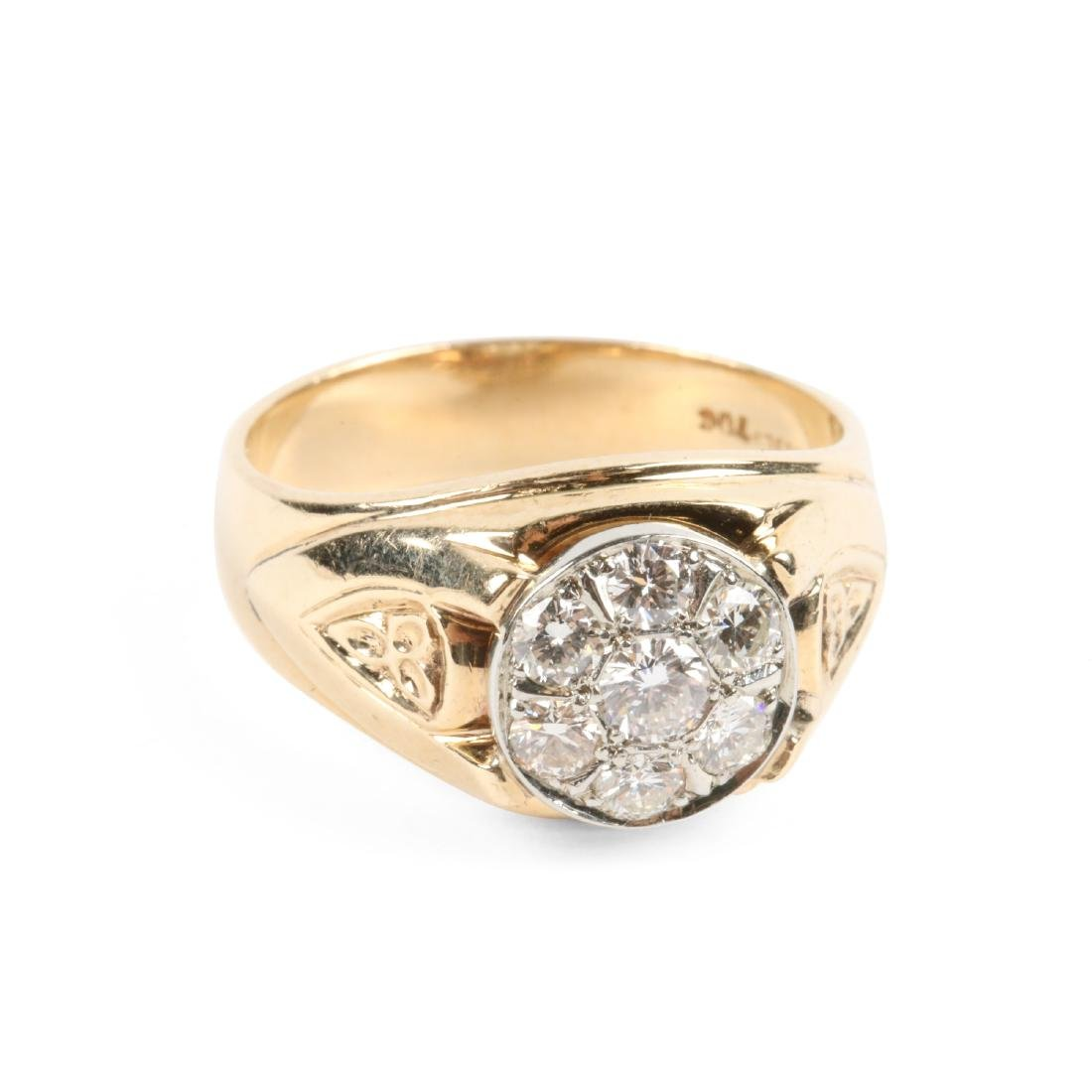 A 18K Gold & Diamond Ring