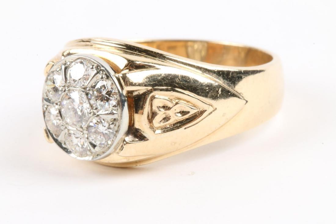 A 18K Gold & Diamond Ring - 2