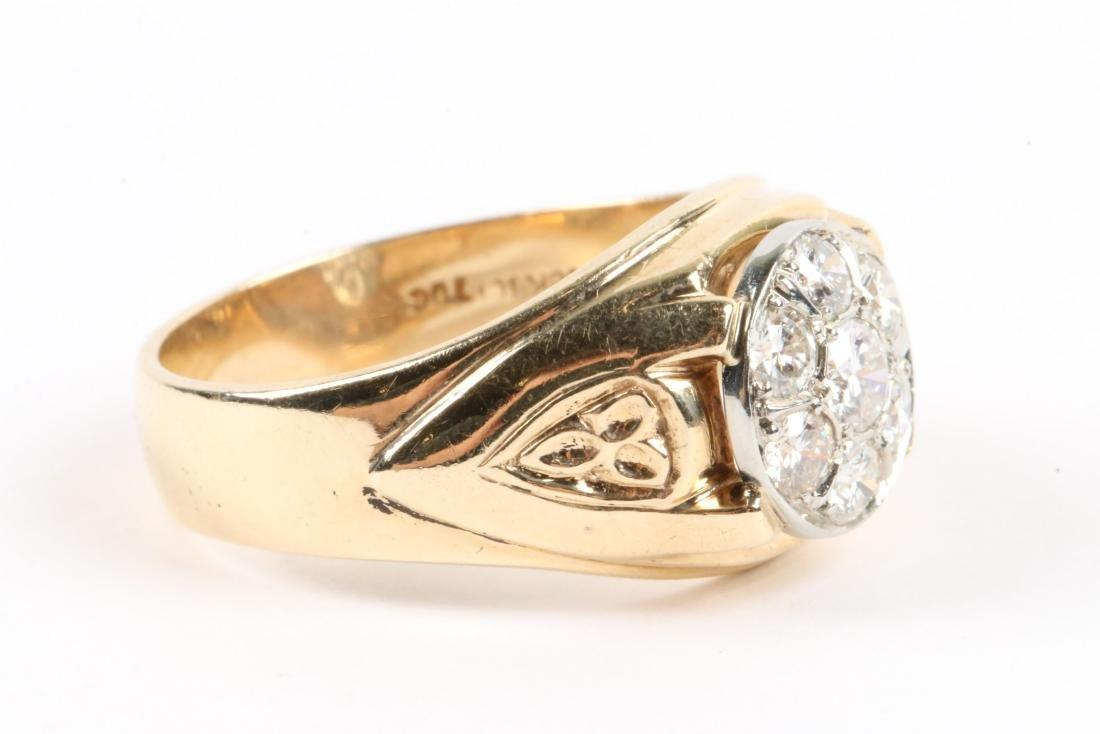 A 18K Gold & Diamond Ring - 3