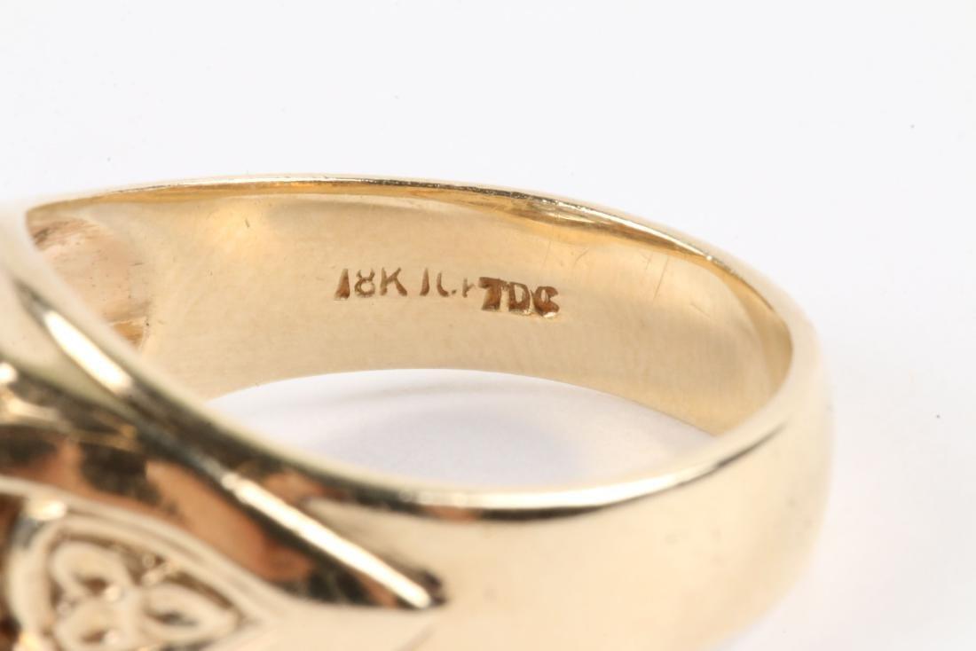 A 18K Gold & Diamond Ring - 5
