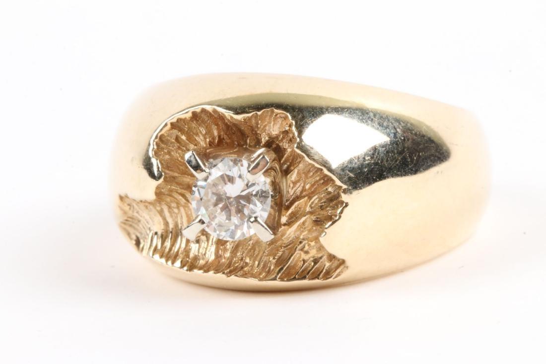 A 10-14k Gold & Diamond Ring - 2