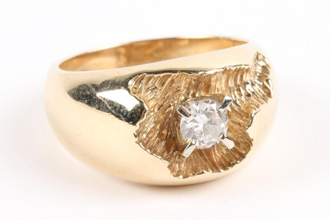 A 10-14k Gold & Diamond Ring - 3