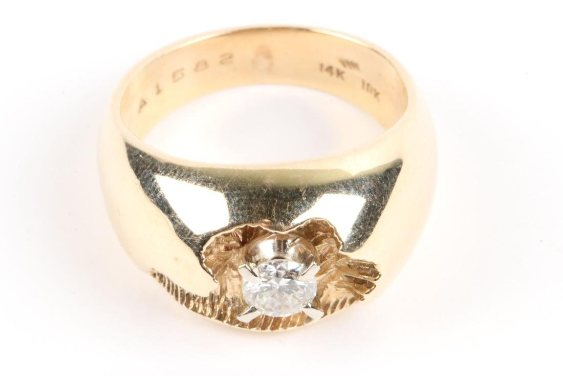 A 10-14k Gold & Diamond Ring - 4
