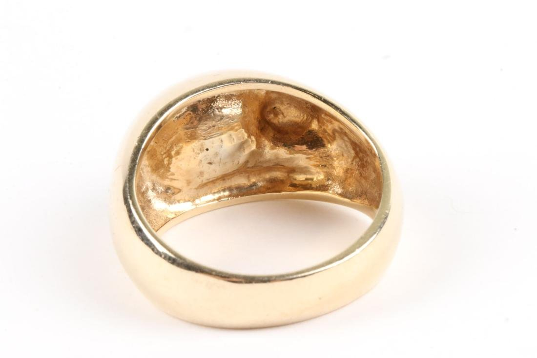 A 10-14k Gold & Diamond Ring - 5