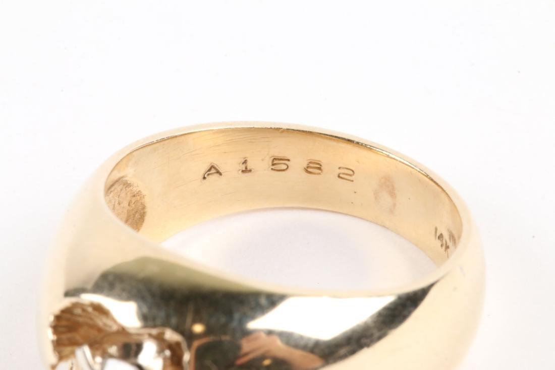 A 10-14k Gold & Diamond Ring - 6