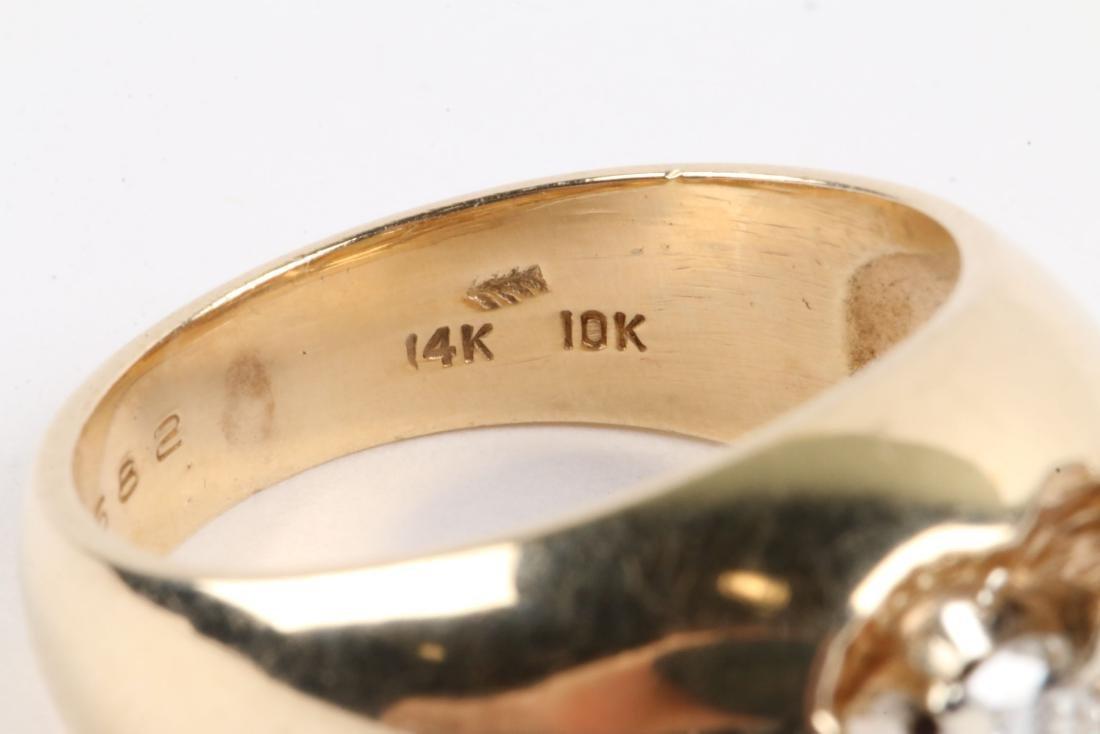 A 10-14k Gold & Diamond Ring - 7