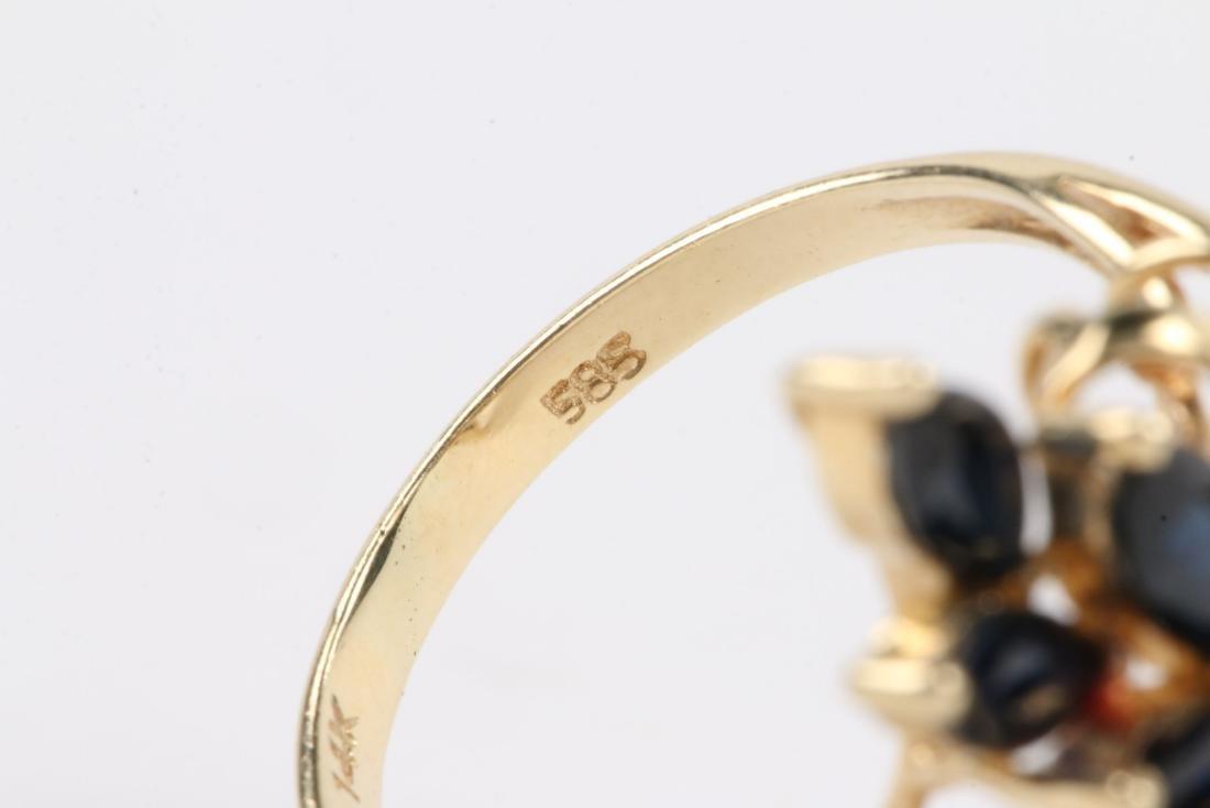 A 14K, Sapphire & Diamond Ring - 7