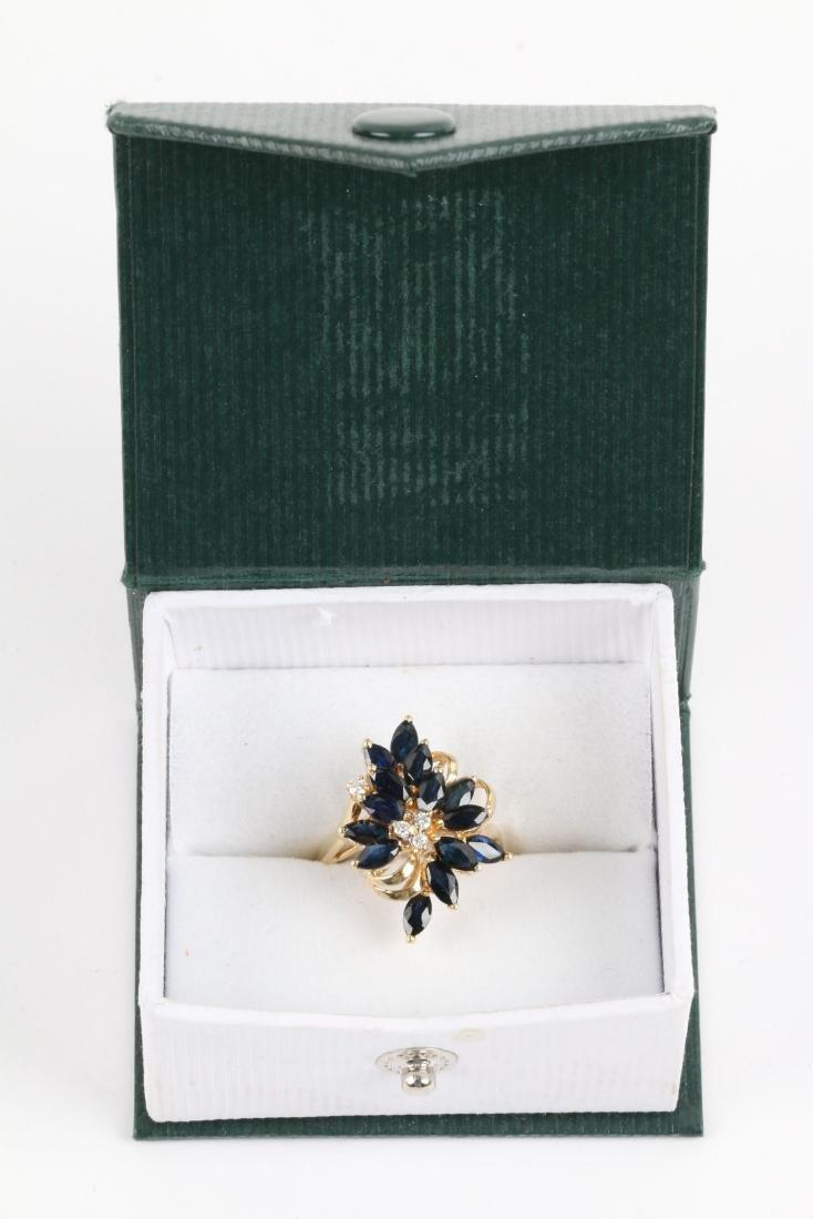 A 14K, Sapphire & Diamond Ring - 8