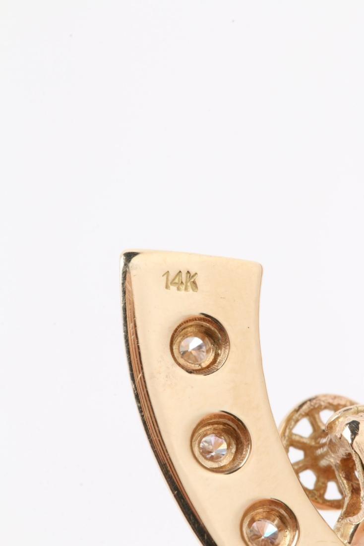 A 14K Gold & Diamond Jockey Pendant - 7