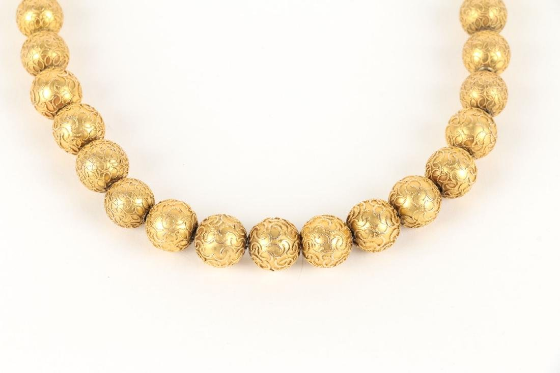 An 18K Yellow Gold Necklace - 2