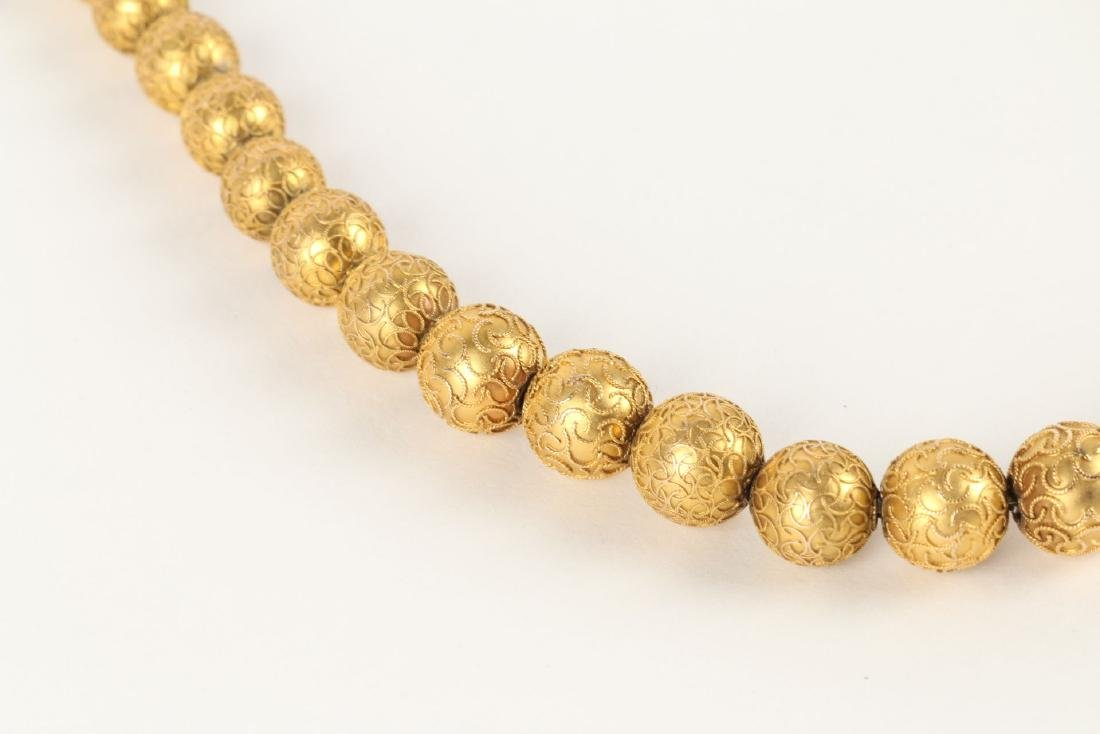 An 18K Yellow Gold Necklace - 4