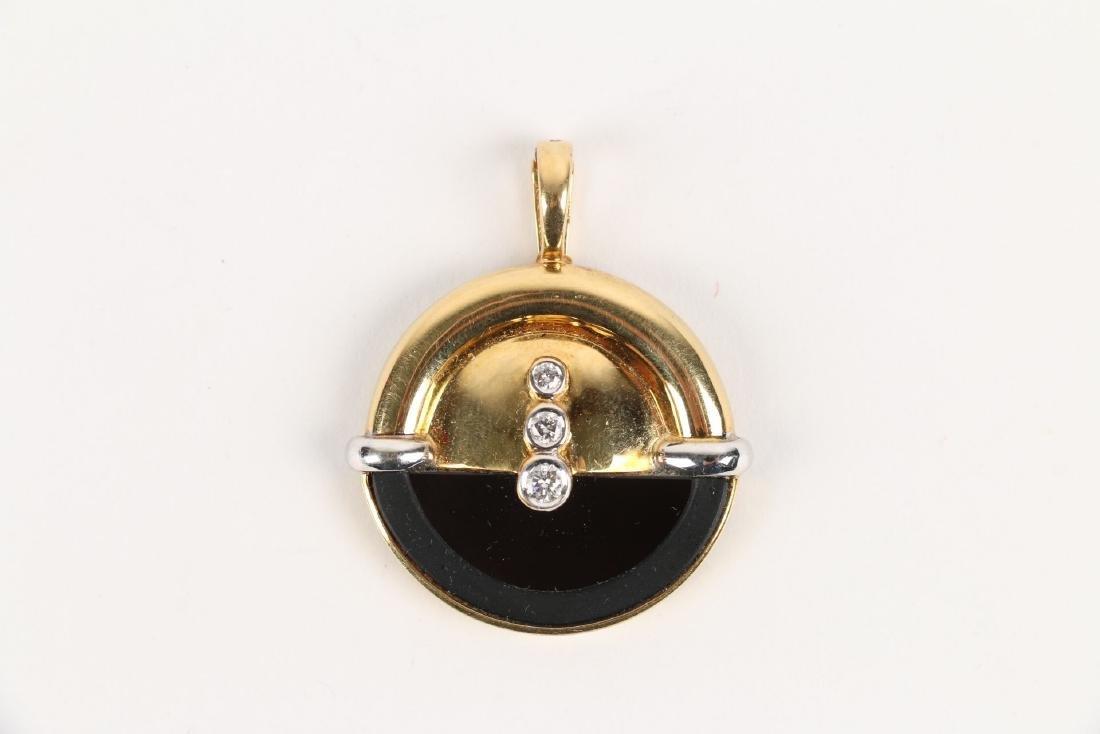 A Thomas 18K, Diamond & Onyx Pendant - 4