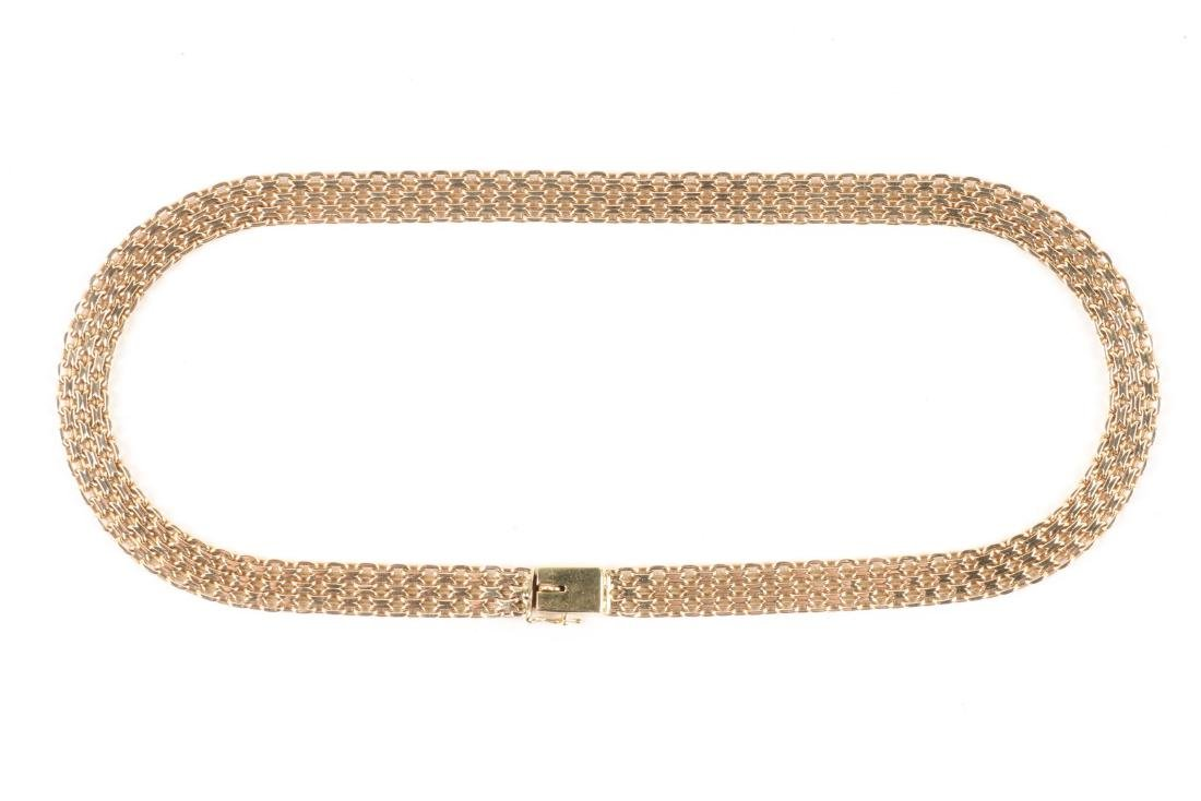 A 14K Yellow Gold Choker Necklace - 2