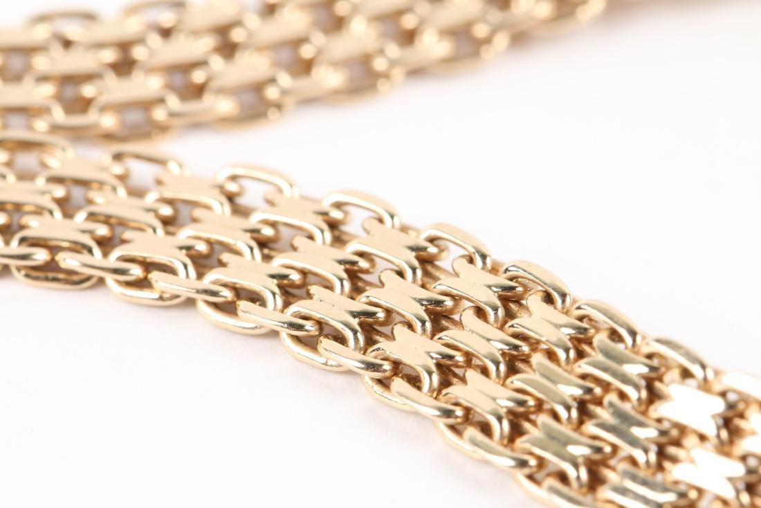 A 14K Yellow Gold Choker Necklace - 4
