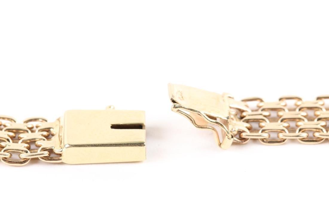 A 14K Yellow Gold Choker Necklace - 6