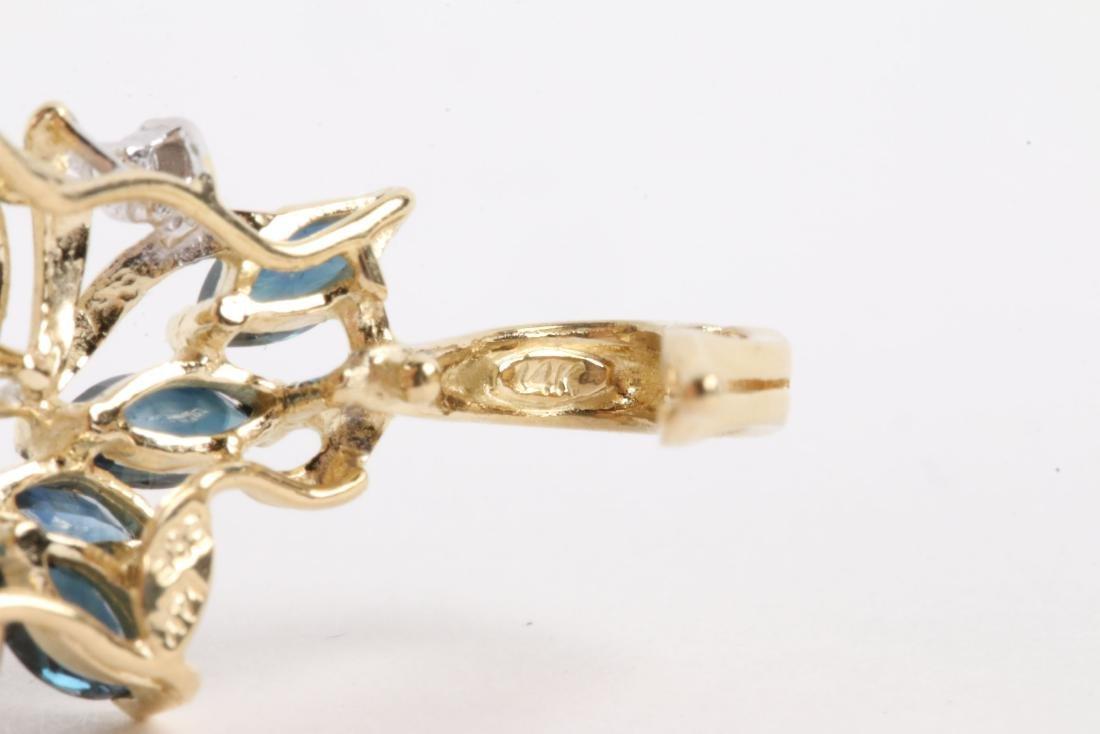 A 14K Gold, Sapphire & Diamond Chain, Pendant - 5