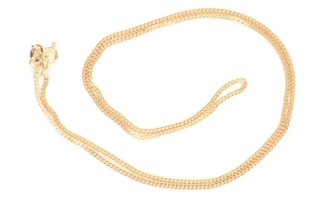 A 14K Gold, Sapphire & Diamond Chain, Pendant - 7