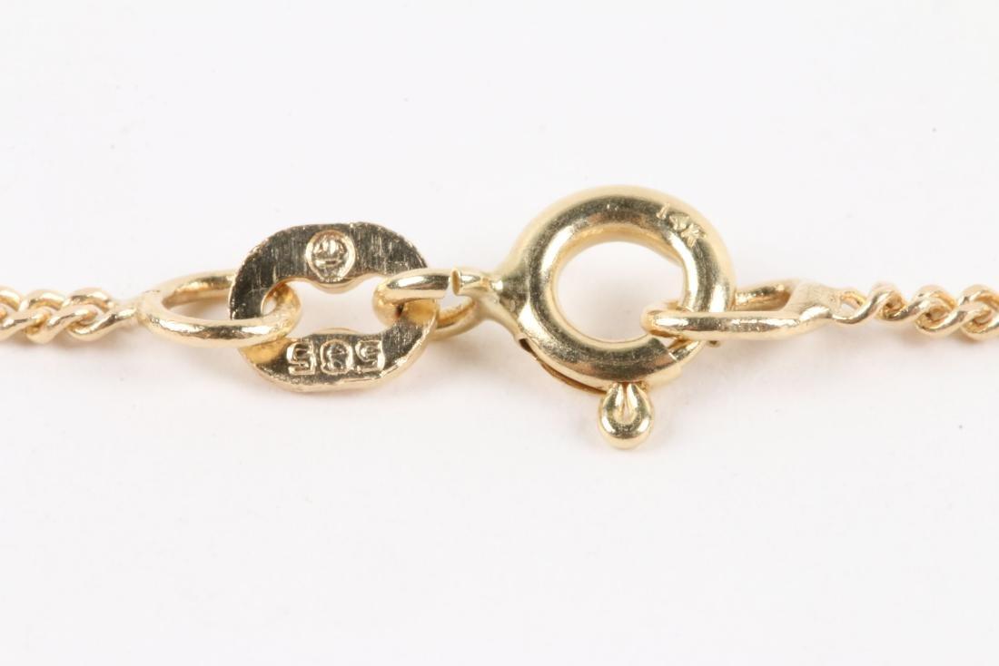 A 14K Gold, Sapphire & Diamond Chain, Pendant - 8