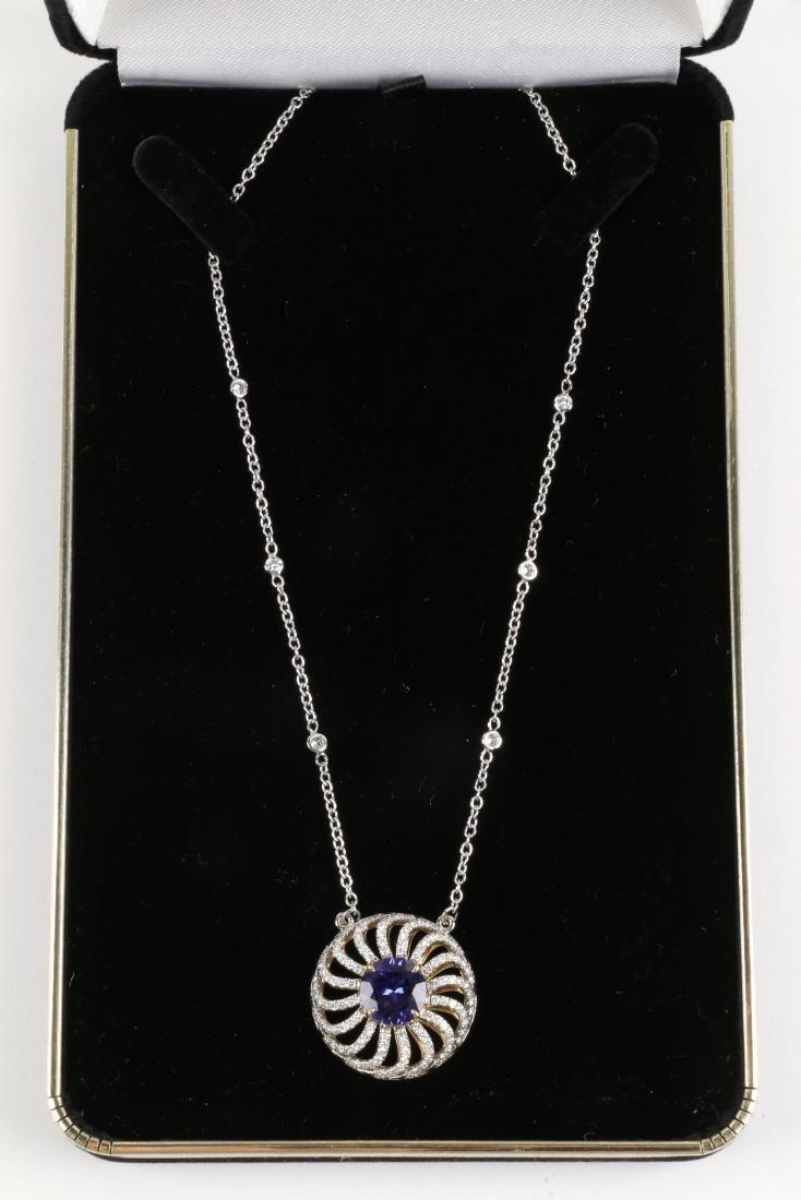 A Custom 18k, Diamond & Tanzanite Necklace - 2