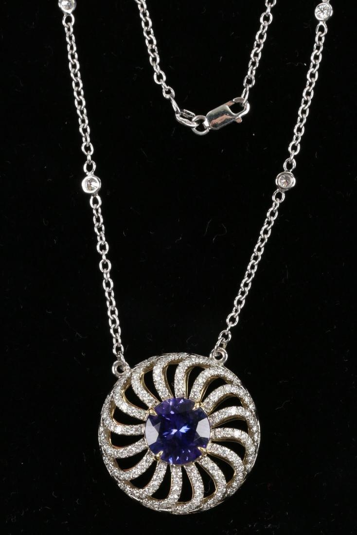A Custom 18k, Diamond & Tanzanite Necklace - 4