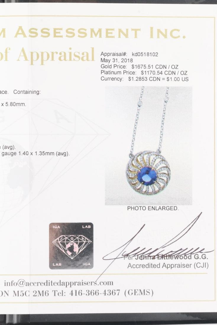 A Custom 18k, Diamond & Tanzanite Necklace - 8