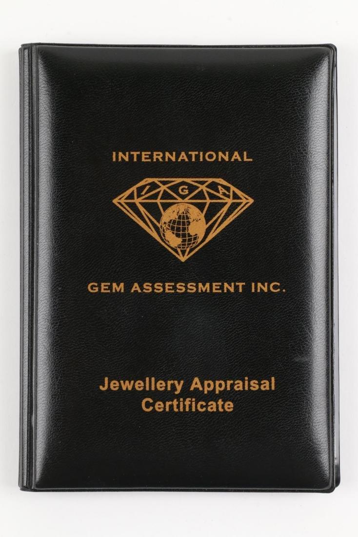 A Custom 18k, Diamond & Tanzanite Necklace - 9