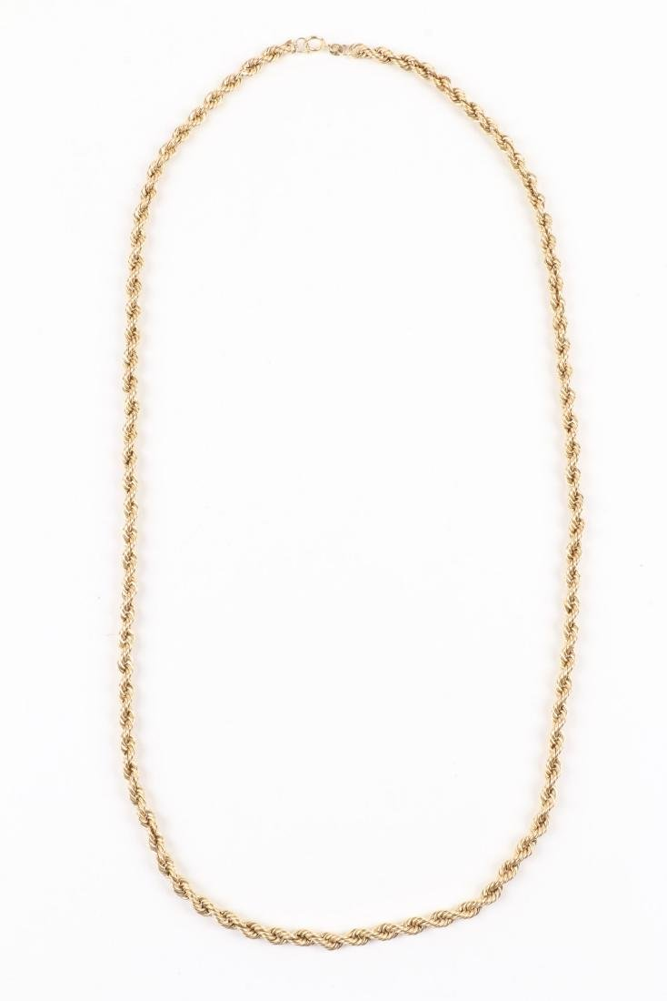 A 14K Gold Necklace - 2