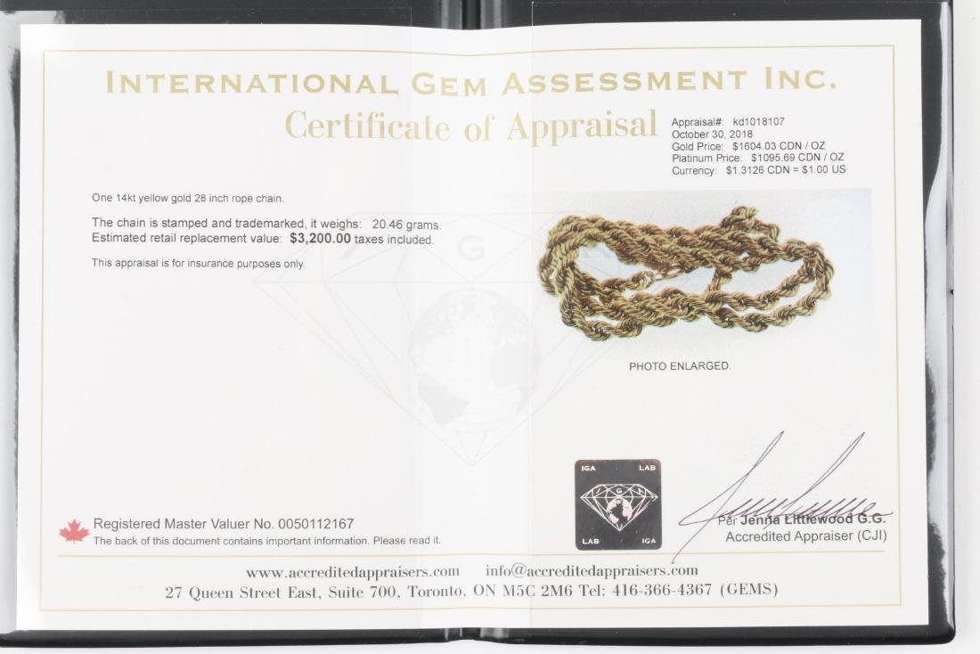 A 14K Gold Necklace - 7