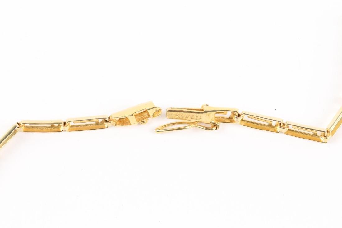 A Greek Style 14K Gold Necklace, Earrings Set - 10